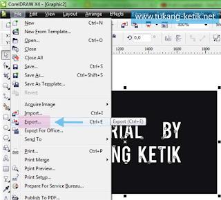 cara menyimpan file menjadi gambar di corel draw