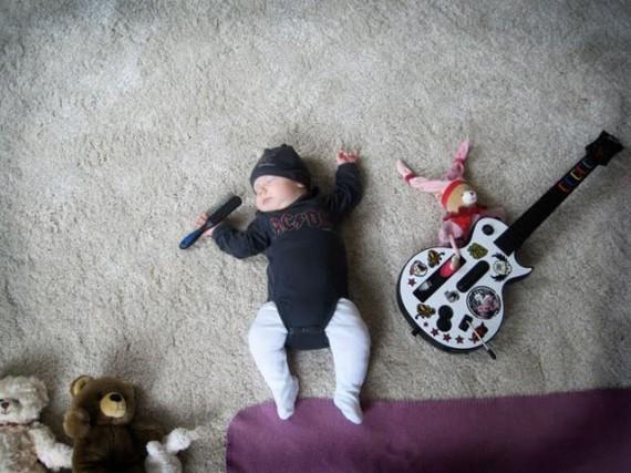 Ensaio fotográfico de um bebê feito pela sua mãe