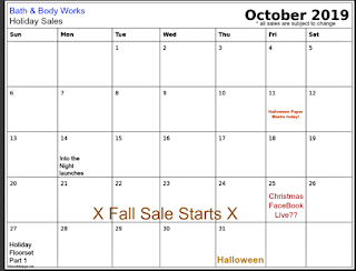 Bath & Body Works   Calendar of Sales 2019 - Try it to Believe It! and Email Exclusives