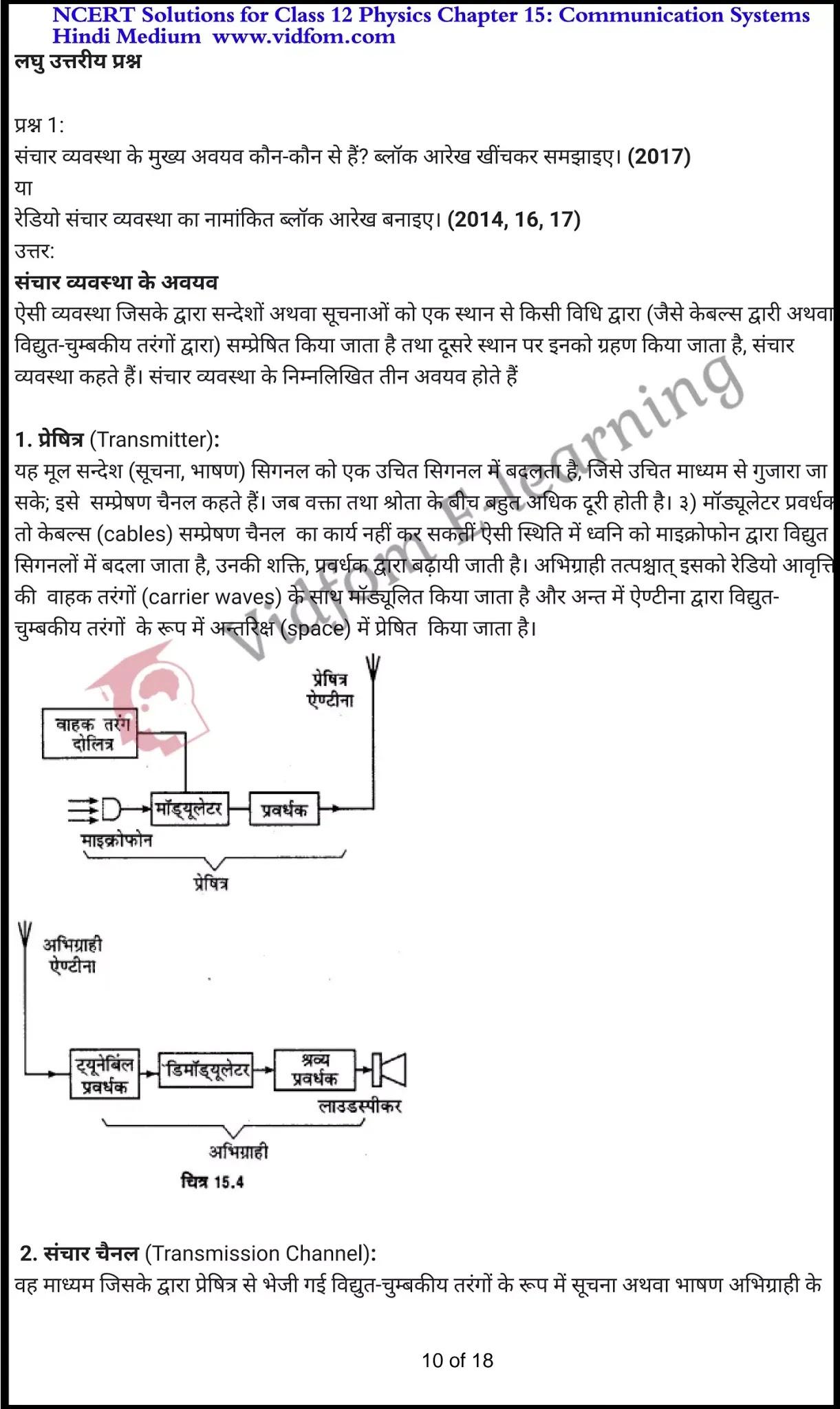 class 12 physics chapter 15 light hindi medium 10