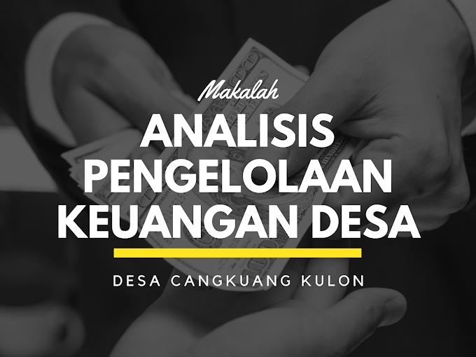 Makalah Analisis Pengelolaan Keuangan Desa