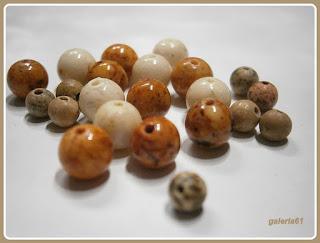 kolczyki z kamieni, marmur piaskowy, srebro