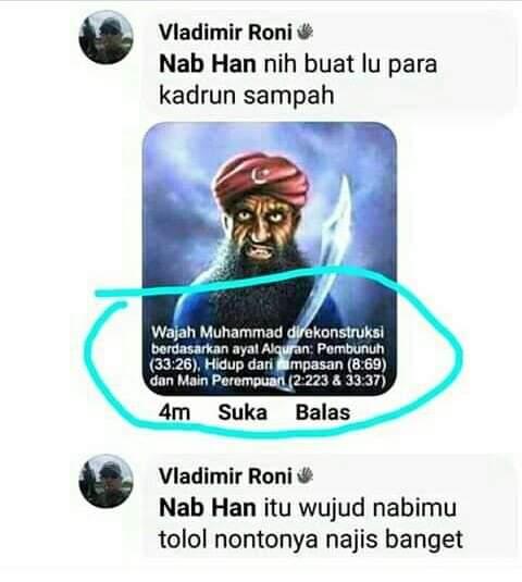 Sungguh Terlalu,Ngakunya Islam tapi menghina Rasulullah dengan alasan membela Jokowi