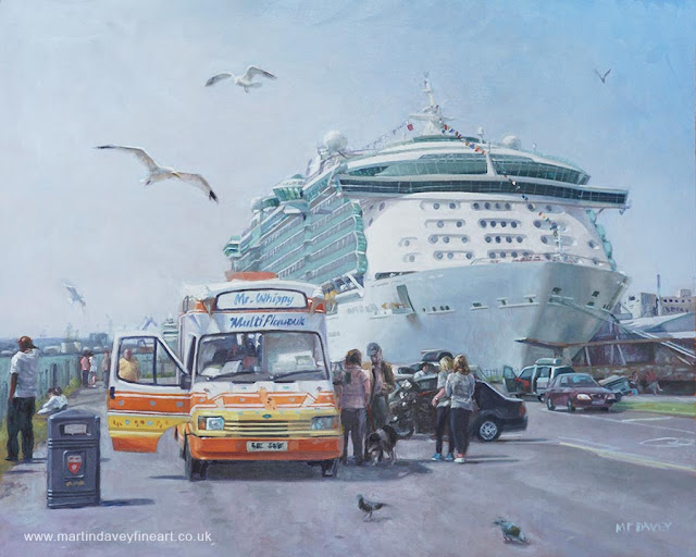 southampton docks mayflower park oil painting