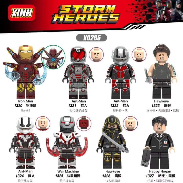 Marvel End Game Lego Moc Minifigure Antman New Helmet