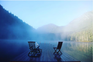 Những hồ nước phủ sương mơ màng khi sang đông 4