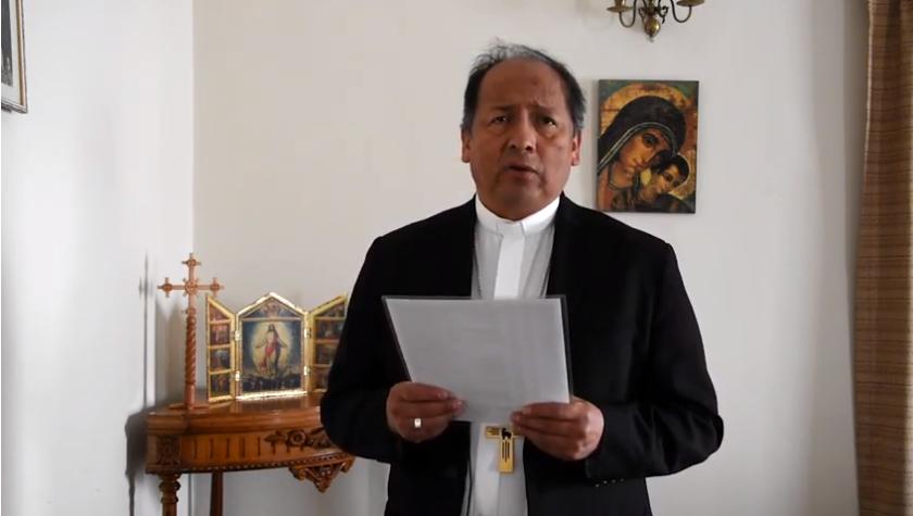 Monseñor Centellas en la inauguración de la Asamblea Extraordinaria Virtual de Obispos de Bolivia / IGLESIA VIVA