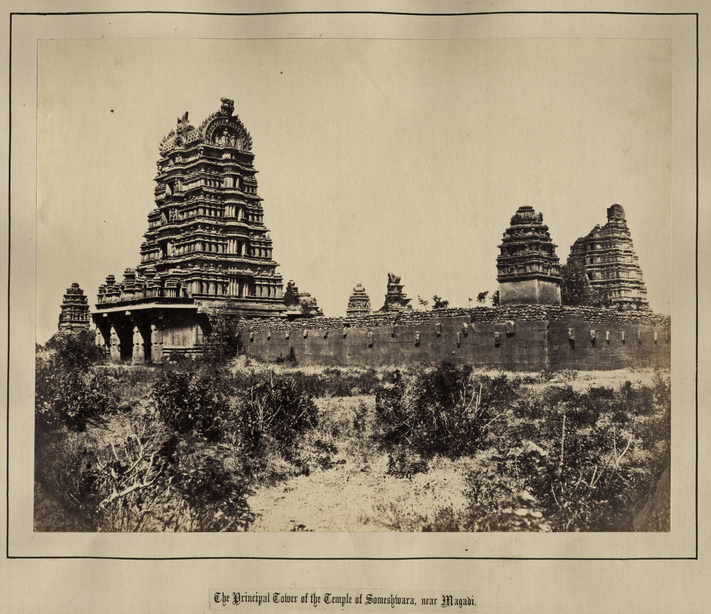 The Principal Tower of the Temple of Someshwara near Magadi, Karnataka - 1850's