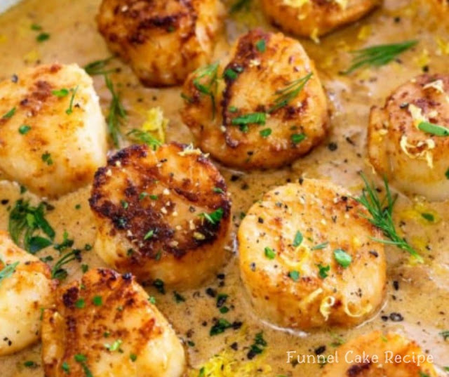Pan Seared Scallops with Lemon Garlic Sauce