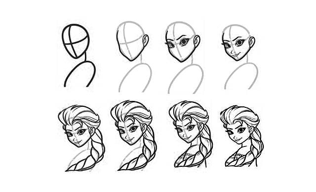 dibujos faciles de princesas disney para dibujar paso a paso y a lapiz