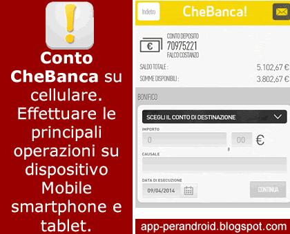 App Android: App CheBanca area clienti accesso