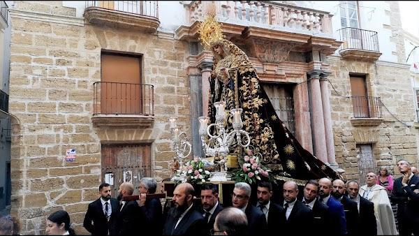 Horario e Itinerario Rosario Aurora María Santísima del Rosario en sus Misterios Dolorosos. Cádiz 12 de Octubre del 2021