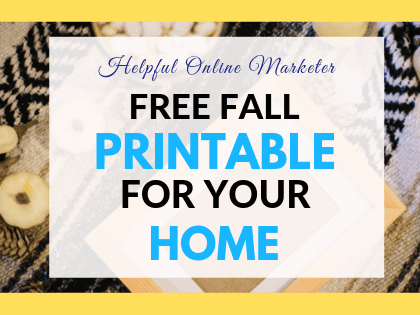 Free Fall Printable for the Home So Very Thankful