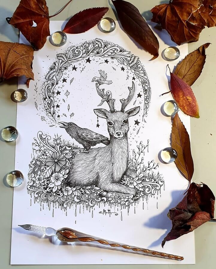 05-The-Crow-and-the-Deer-Martina-Arend-www-designstack-co