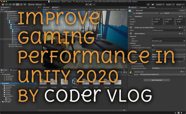 How to improve your gaming performance in unity 2020
