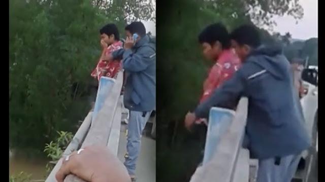 Video: Ngakak.. Sudah Siap Melompat Dari Jembatan Pria Ini Malah Batalkan Niatnya Setelah Tahu Yang Dibawah Ada Ini