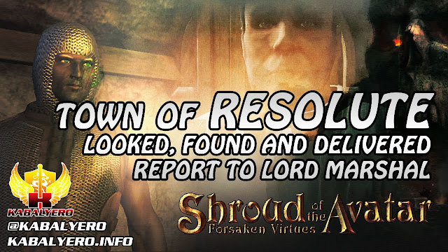Town Of Resolute ★ Looked, Found & Delivered Report To Lord Marshal