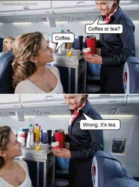 Funny Coffee or Tea? Airplane Meme Picture