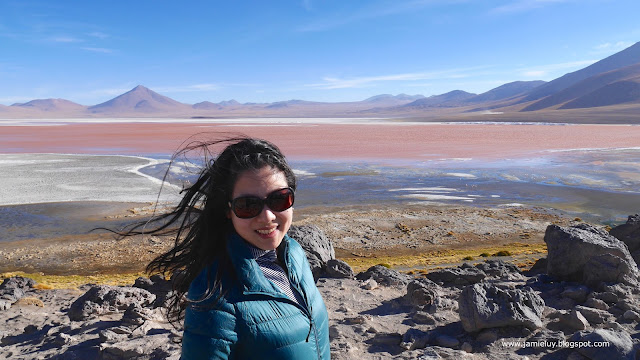 Laguna Colorada or Red Lagoon, Uyuni, Bolivia