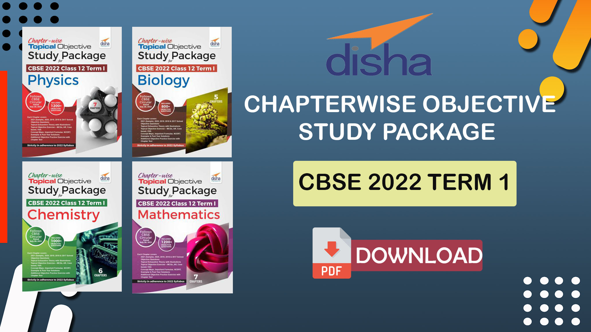 Disha Chaptewise Objective Study Package