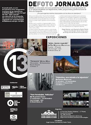 Programación exposiciones XIII DeFoto