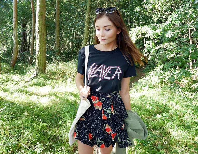 band t-shirt uk blogger outfit