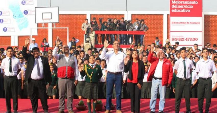 La educación permitirá el gran cambio que necesita el país, sostuvo el Presidente Martín Vizcarra