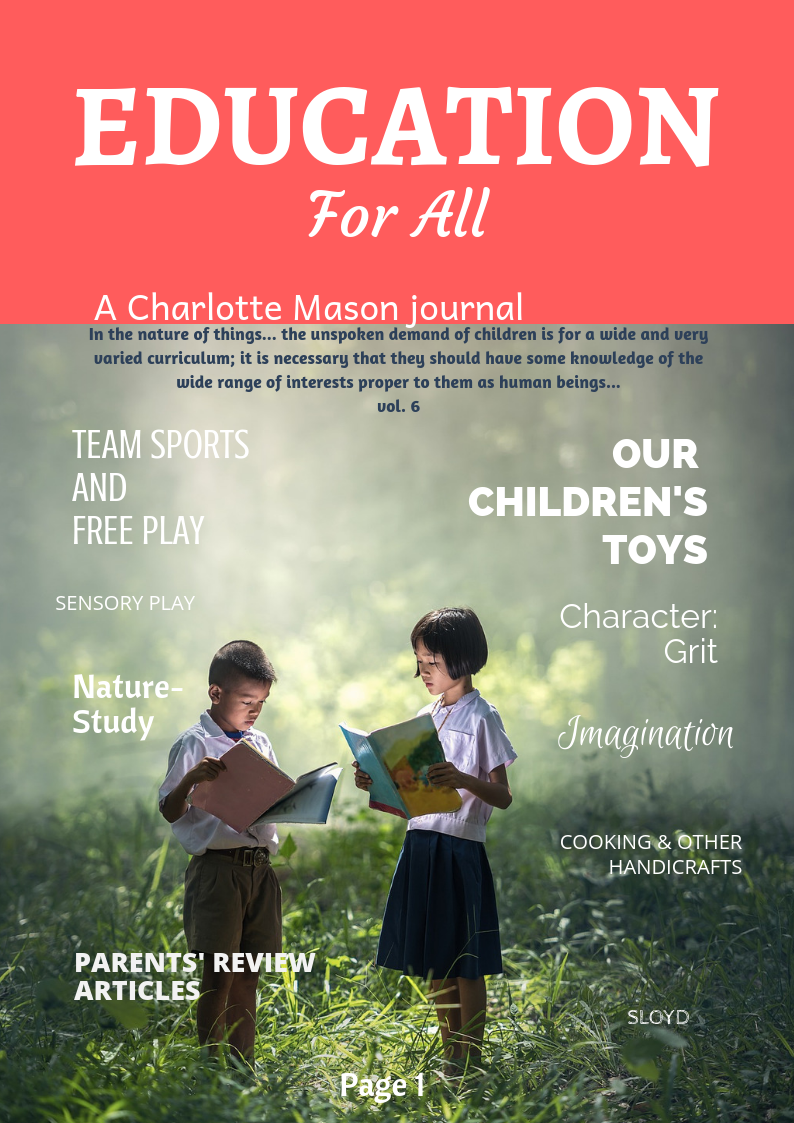 Charlotte Mason Journal, Vol 1, No. 1
