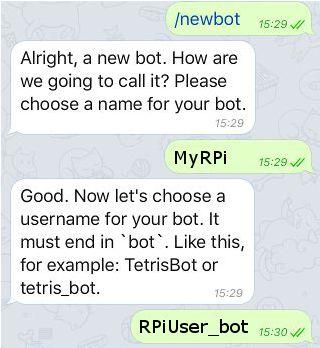 Raspberry Pi experiments: Using Telegram with Raspberry Pi