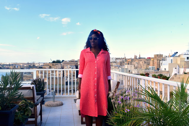 Shirt dress, sewing blogger, malta, Iampatterns