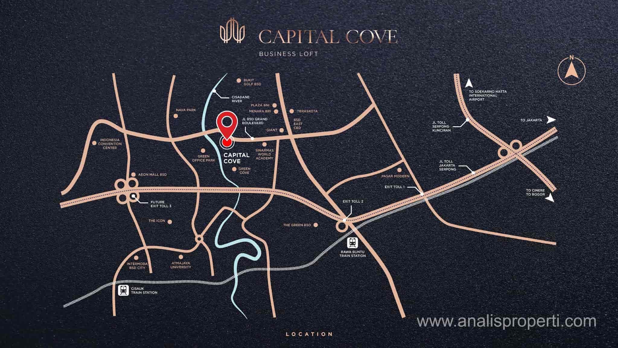 Lokasi Capital Cove BSD City
