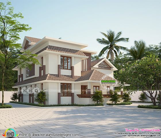 2446 sq-ft 4 BHK Kerala home design