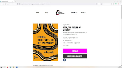 """Screenshot of edition assemblage website to order """"Soon, The Future of Memory"""""""