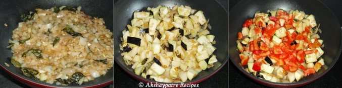 Tempering to make batata vangyachi bhaaji