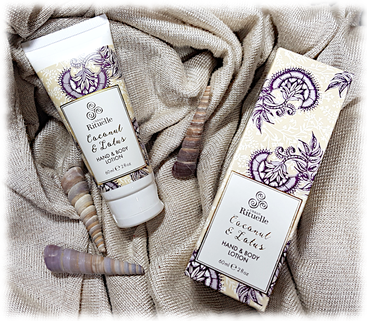 Coconut & Lotus Hand & Body Lotion with shells