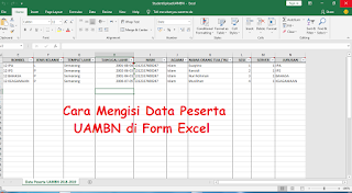 Cara Mengisi Data Peserta UAMBN di Form Excel