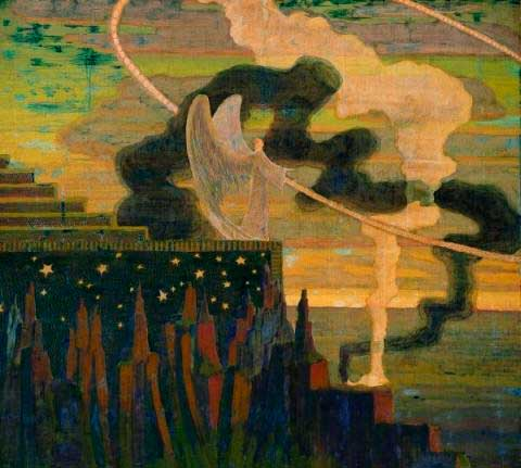 Чюрлёнис Микалоюс Константинас - Жертвоприношение. 1909
