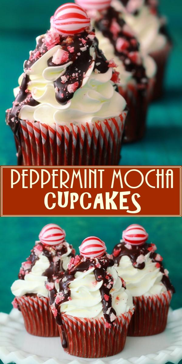 PEPPERMINT MOCHA CUPCAKES #Cupcakesrecipes