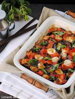 Berenjenas con tomate y mozarrella al aroma de albahaca