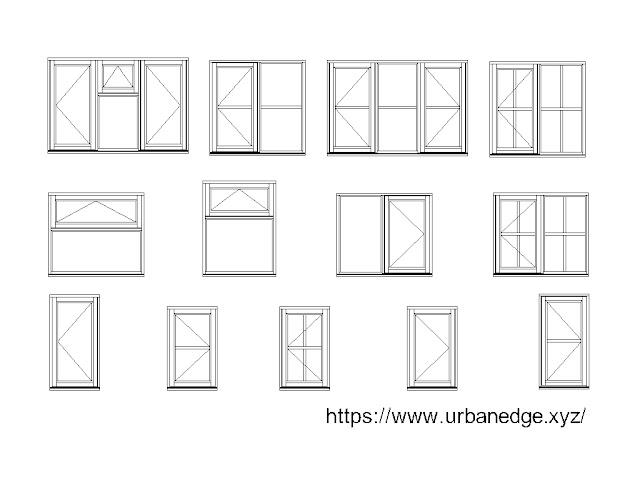 Windows Elevation cad blocks download, 10+ Window cad blocks