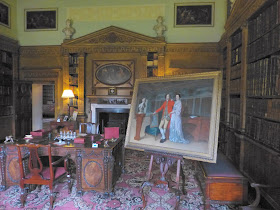 The portrait of Sir Rowland Winn 5th Baronet and his wife Sabine displayed in the library in which it was painted