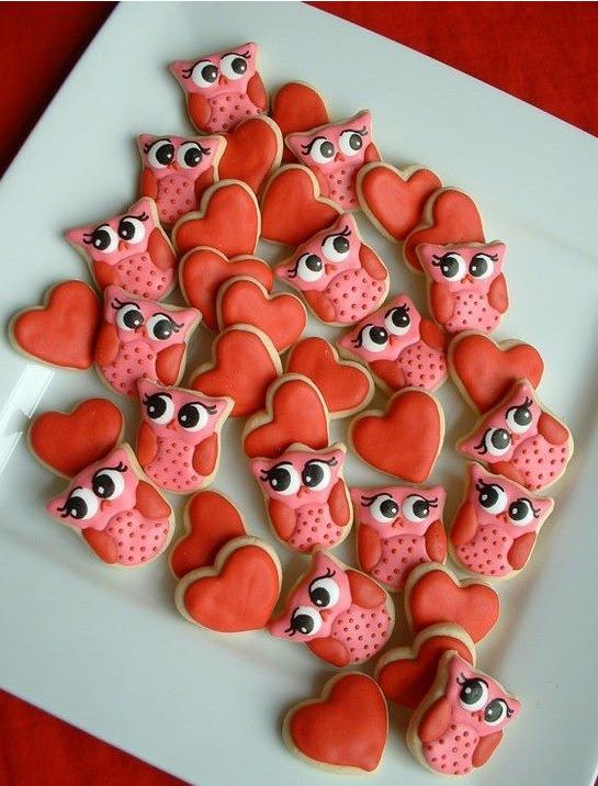 receita biscoitos decorados coração coruja namorados