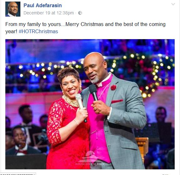 Merry Christmas from Pastor Paul Adefarasin