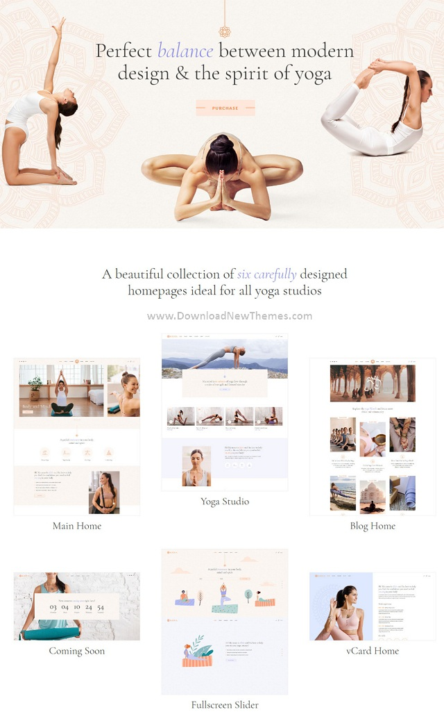 Hatha Yoga WordPress Theme
