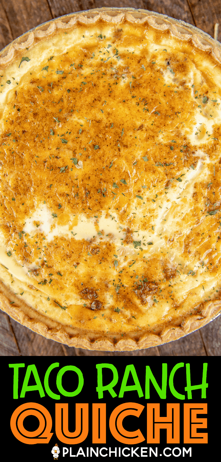 baked taco ranch quiche