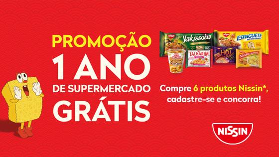 Promoção 1 Ano de Supermercado Grátis Nissin