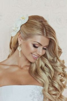 Long Side Pulled Wedding Hairstyle