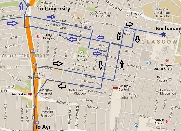 Great British Bus Routes Com X77 Glasgow Ayr