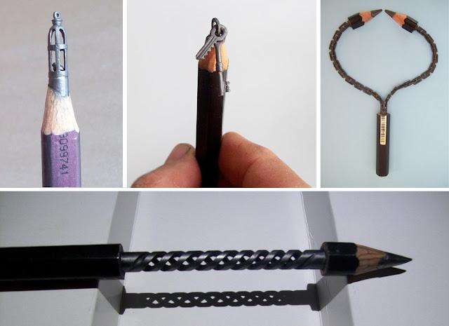 Необычное хобби венгерского слесаря Cerkahegyzo - резьба по грифелю карандаша - DayDreamer Blog