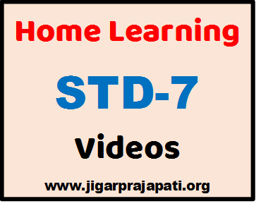 "[STD-7] DD Girnar Live TV ""Home Learning"" Videos by GCERT, SSA Gujarat"